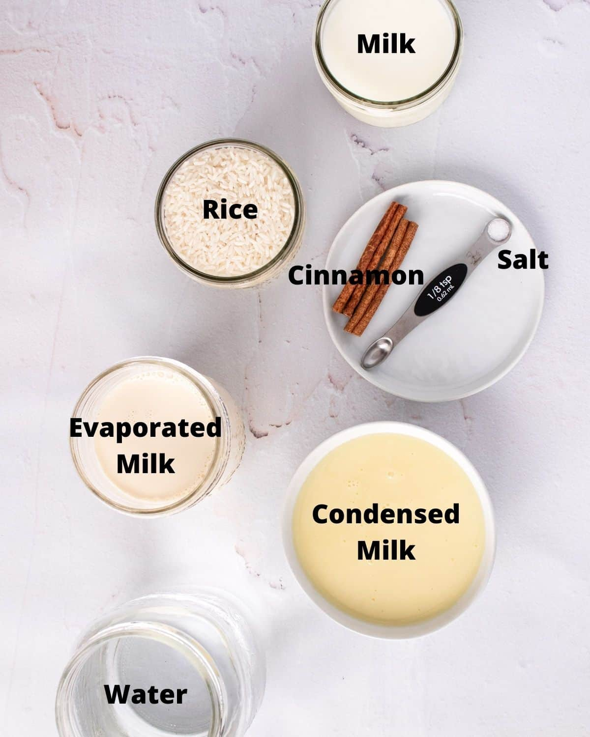 ingredients needed and labeled