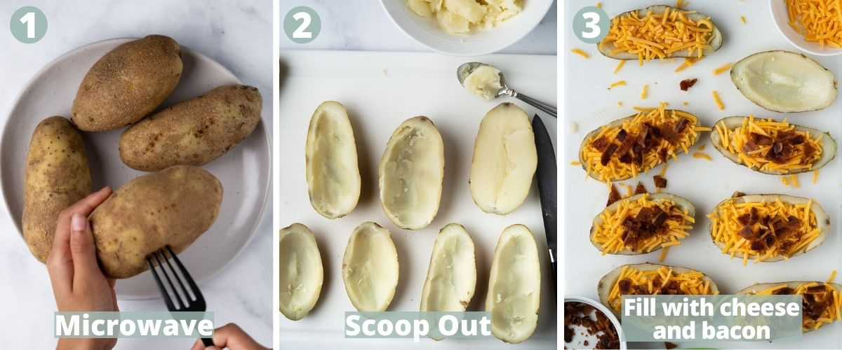 steps to make air fryer potato skins