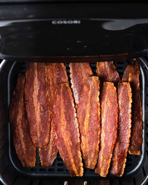 Air fried turkey bacon