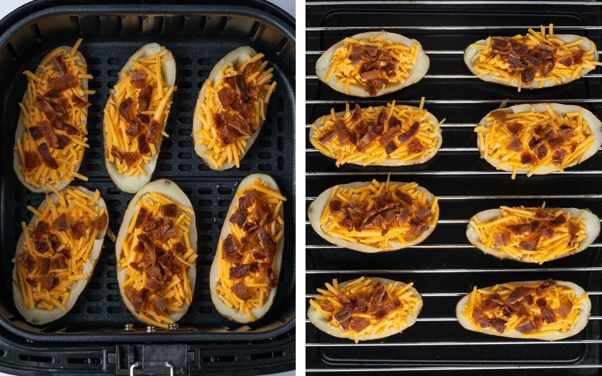 Potato skins before cooking in Cosori air fryer and Instant Omni Plus